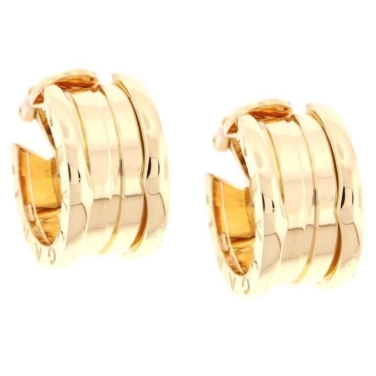 Bulgari B.Zero1 Gold Hoop Earrings 1
