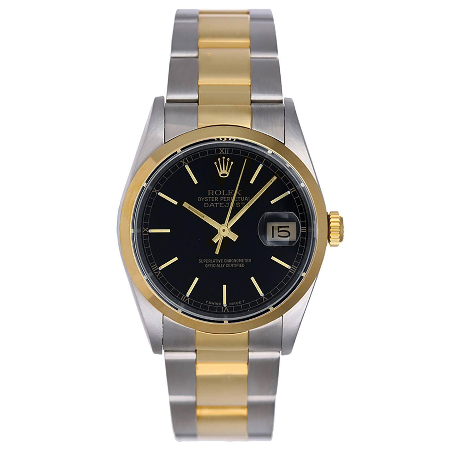 rolex yellow gold stainless steel datejust oyster