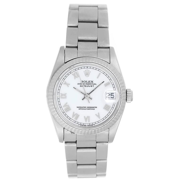 Rolex Stainless Steel Datejust Automatic Wristwatch Ref 68274