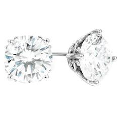 Peter Suchy Diamond Platinum White Gold Stud Earrings