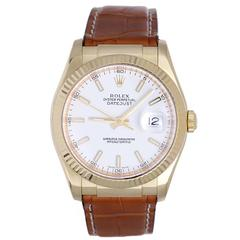 Rolex Yellow Gold Automatic Wristwatch Ref 116138