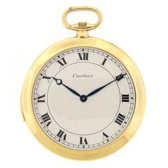 Cartier Yellow Gold Minute Repeater Pocket Watch