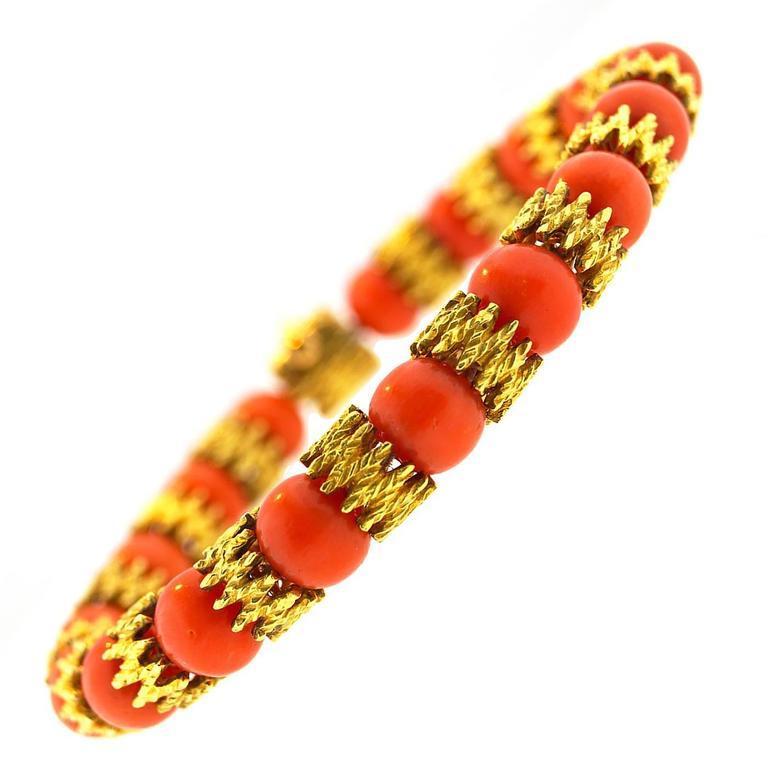 H. Stern Coral Gold Bracelet