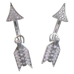 Diamond Gold Arrow Earrings
