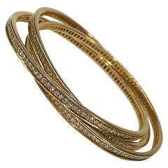 Cartier Trinity Diamond Gold Bracelet