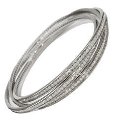 Cartier Diamond Gold Trinity Bracelet