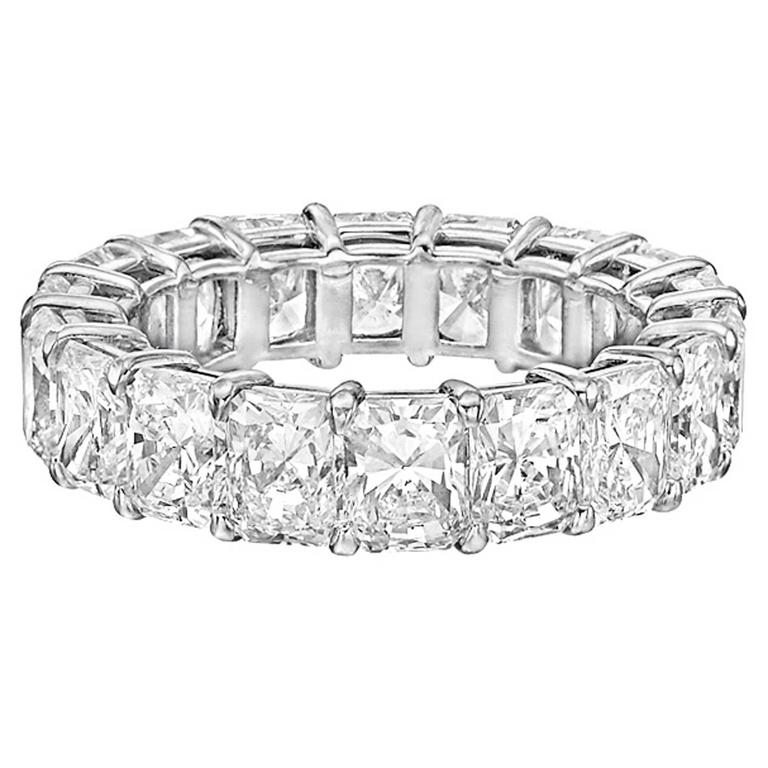 Radiant-Cut Diamond Platinum Eternity Band 1