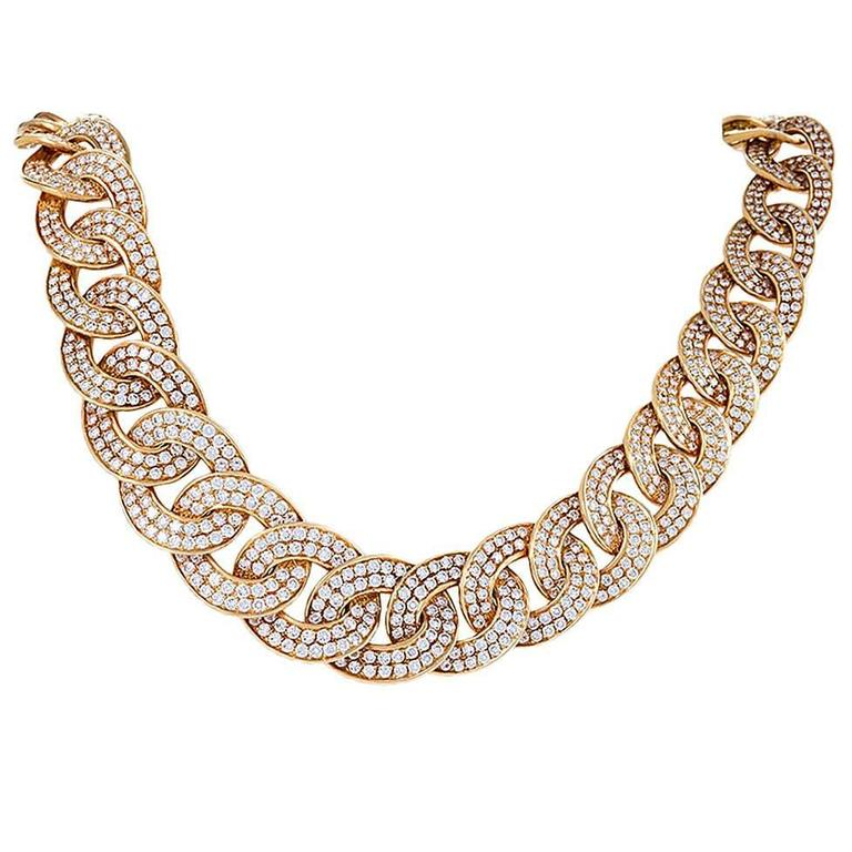 Van Cleef & Arpels 1980's Diamond and Gold Necklace