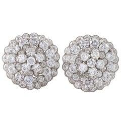 Van Cleef & Arpels Blooming Diamond Cluster Stud Earrings
