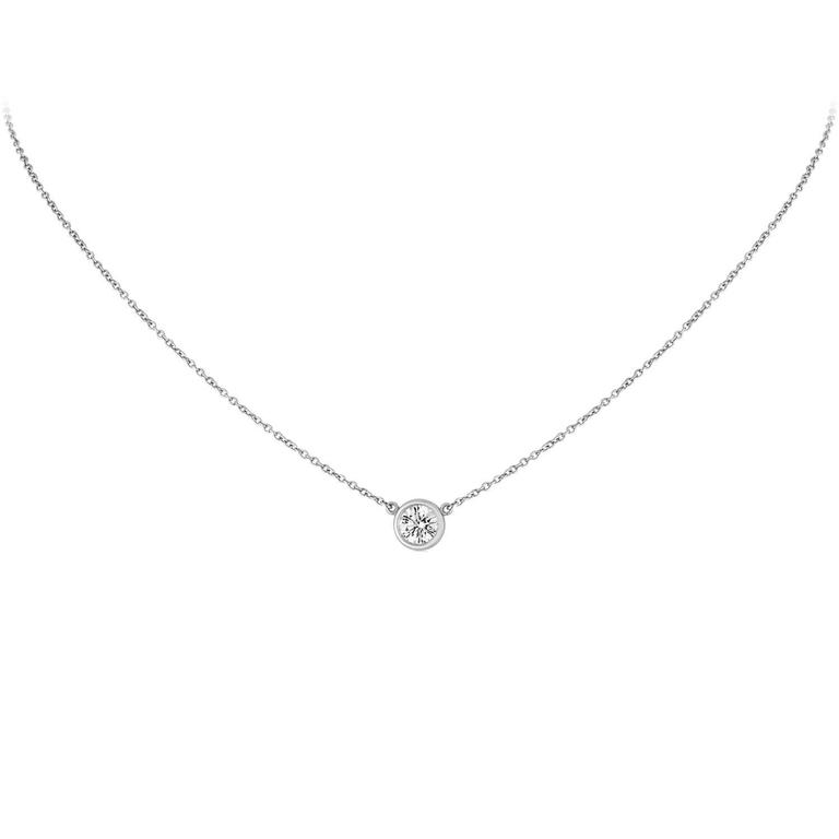 Igi certified tiffany and co 055 carat diamond solitaire platinum igi certified tiffany co 055 carat diamond solitaire platinum necklace for sale aloadofball Images