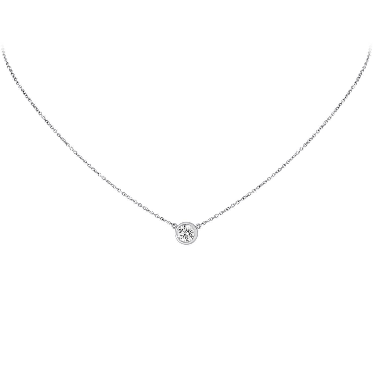 double diamond in pendant setting cut bale yellow round necklace gold solitaire