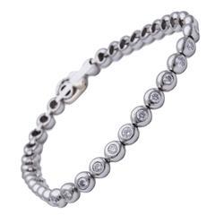 Tiffany & Co. Diamond Platinum Tennis Bracelet