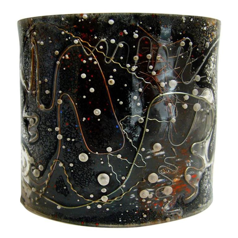 Zahara Schatz Laminated Acrylic Cuff Bracelet For Sale