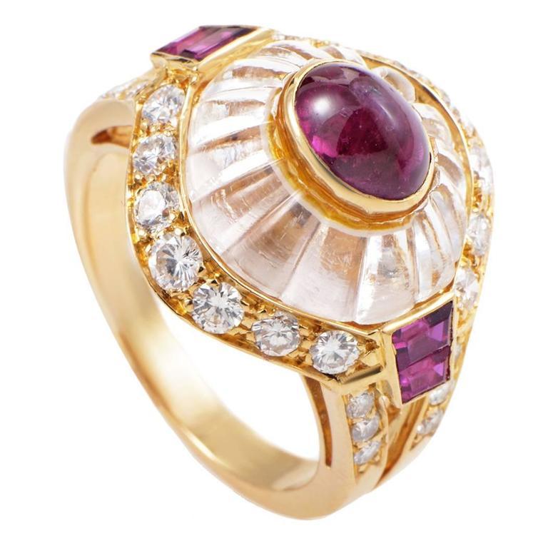 Boucheron Gemstone Diamond Gold Ring 1