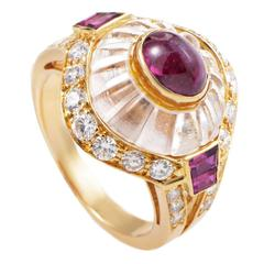 Boucheron Gemstone Diamond Gold Ring