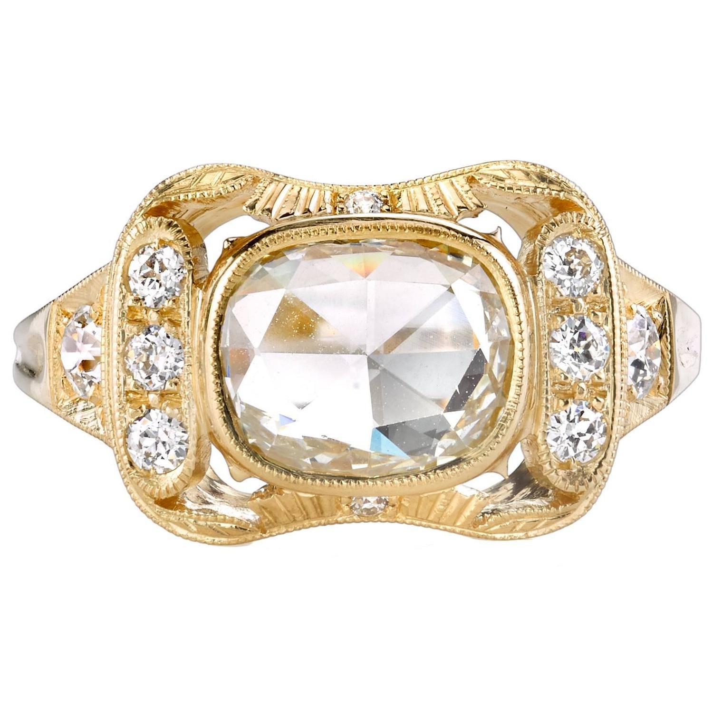 beautiful cut gold engagement ring at 1stdibs