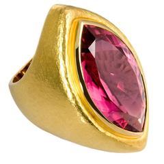 Colleen B. Rosenblat Pink Tourmaline Gold Cocktail Ring
