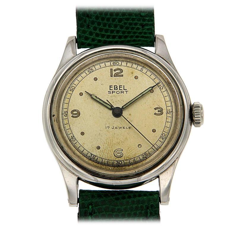Ebel Stainless Steel Sport Wristwatch, 1950s