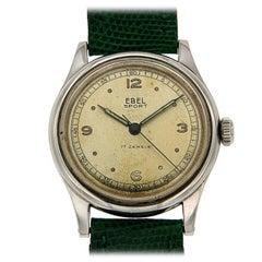 Antique Ebel Stainless Steel Sport Wristwatch