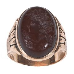 Antique Carnelian Gold Intaglio Ring