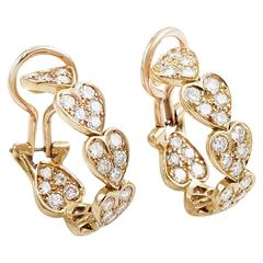 Cartier Virgo Diamond Gold Heart Earrings