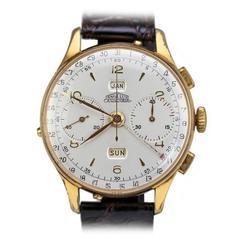 Angelus Gold Plate Chronodato Wristwatch Ref 462