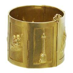 Mortet Unusual 1970s Gold Link Bracelet