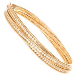 Cartier Trinity Diamond 3 band Bracelet