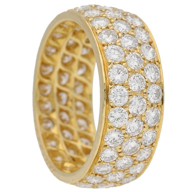 Van Cleef & Arpels diamond Gold Band ring