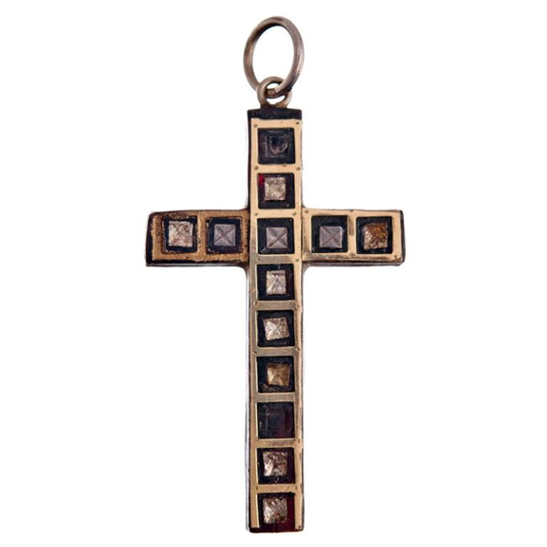 Antique Tortoiseshell Pique Cross
