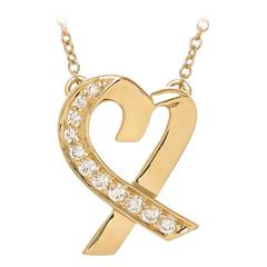 Tiffany  Paloma Picasso Gold and Diamond Heart necklace