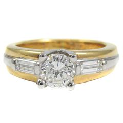 Fred Paris Diamond Gold Solitaire Ring