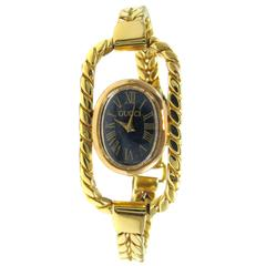 Gucci Ladies Yellow Gold Bracelet Wristwatch
