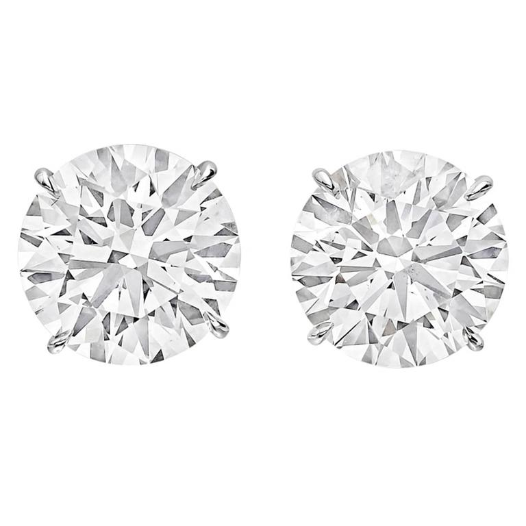 Betteridge Round Brilliant Diamond Stud Earrings (11.17 ct tw) 1
