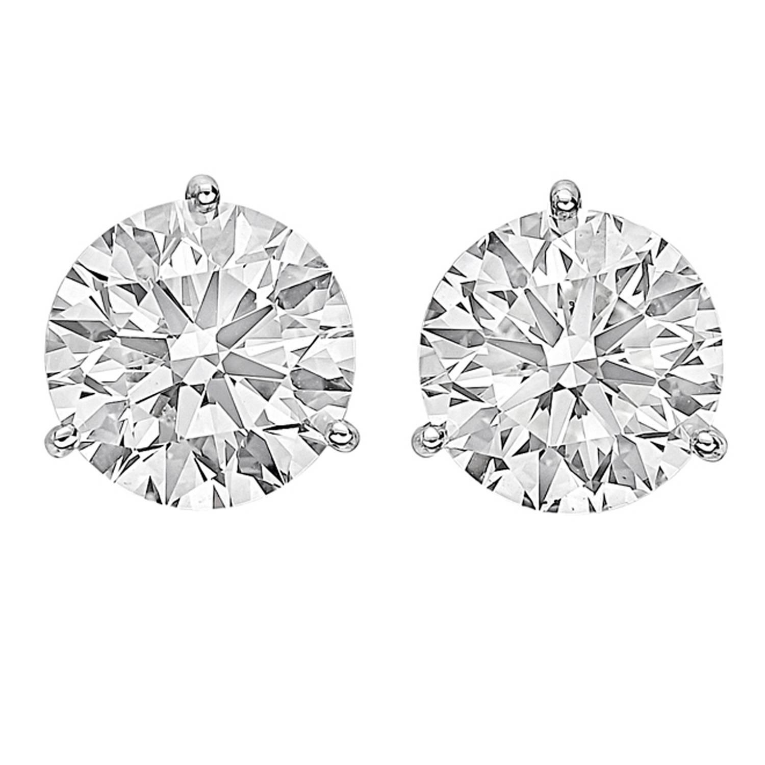 Round Diamond Studs and Earring Jackets at 1stdibs