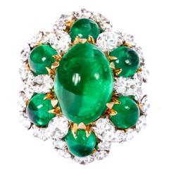Bulgari Colombian Emerald Diamond Gold