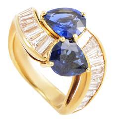 Graff Sapphire Diamond Gold Ring