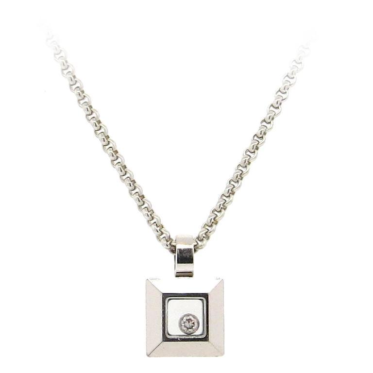 Chopard happy diamonds gold diamond square pendant necklace at 1stdibs chopard happy diamonds gold diamond square pendant necklace for sale aloadofball Image collections