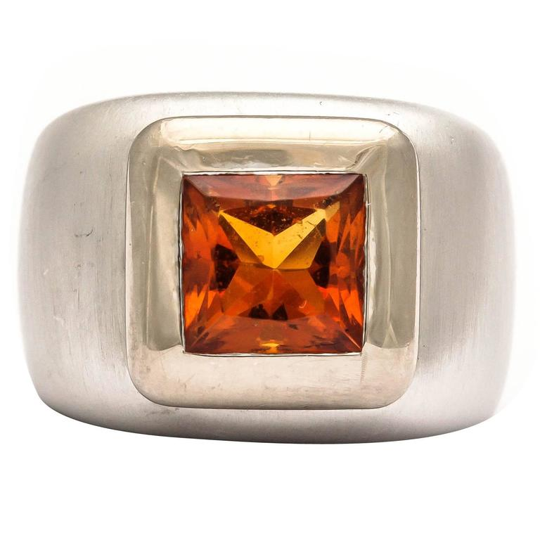 Heavy Citrine Ring For Sale