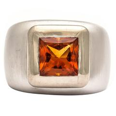 Heavy Citrine Ring