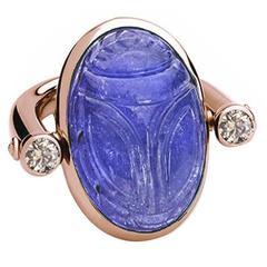 Colleen B. Rosenblat tanzanite brilliant-cut diamond gold ring