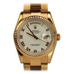 Rolex Rose Gold President Day-Date Wristwatch Ref 118235