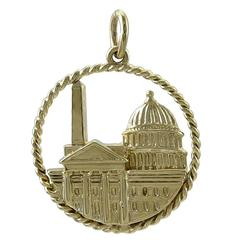 Washington, D.C. Gold Charm