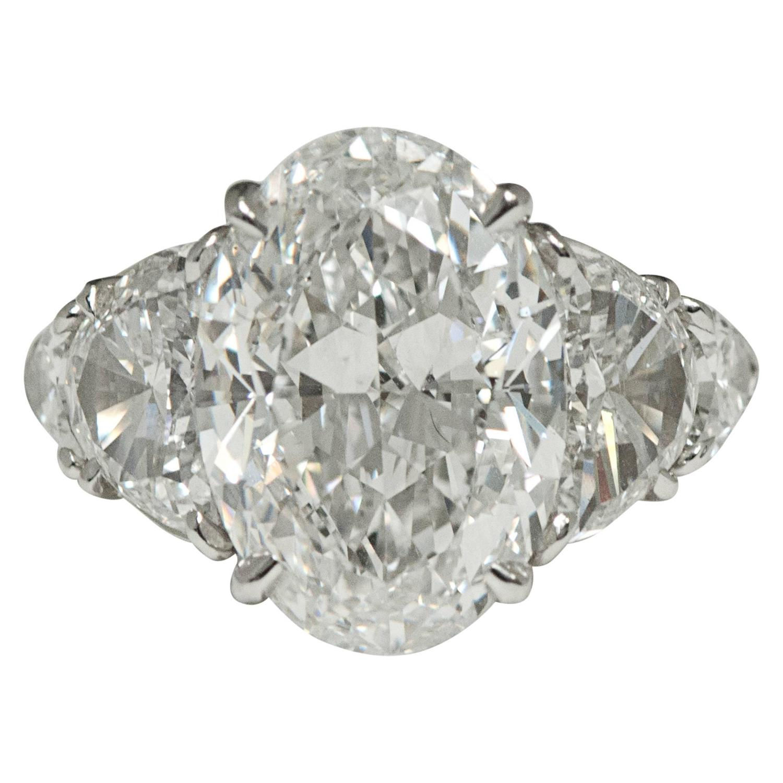 6 02 Carat GIA Cert Oval Diamond Platinum Ring at 1stdibs
