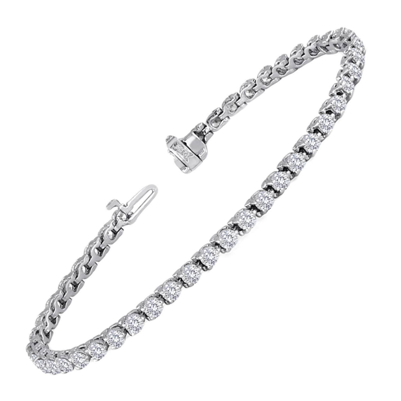 4.97 Carat Diamond Gold Tennis Bracelet