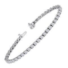 4.97 Carat Diamond Gold Tennis Bracelet