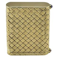 Tiffany & Co. Dual Compartment Woven Gold Pill Box