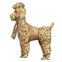1960s 18k Yellow Gold 'Poodle' Brooch