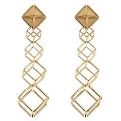 Cushion Cube dangling Earrings