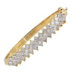 Diamond Gold Bangle Bracelet